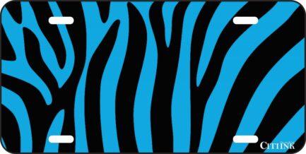 Black and Blue Zebra Print-0