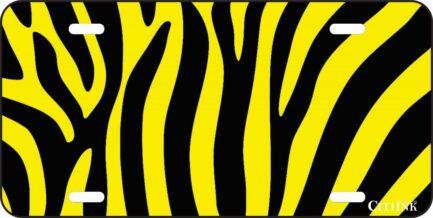 Black and Yellow Zebra Print-0
