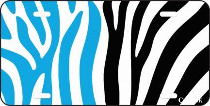 Blue and Black Zebr Print-0