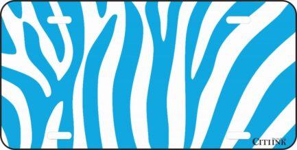 Blue and White Zebra Print-0