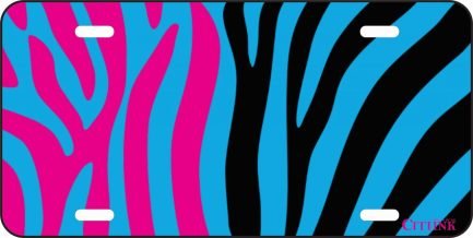 Blue Pink and Black Zebra Print -0
