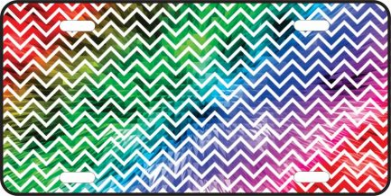 Colorful Chevron with White Lines 2-0