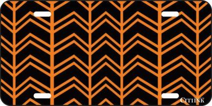 Orange and Black Chevron -0