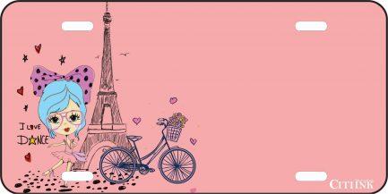 Paris ( I Love Dancing) Car Tag-0