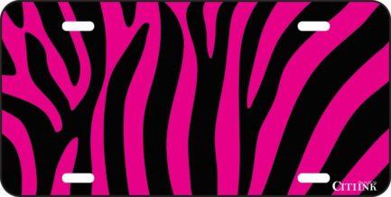 Pink and Black Zebra Print -0