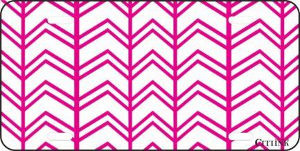 Pink and White Chevron -0