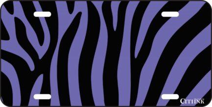 Purple and Black Zebra Print -0