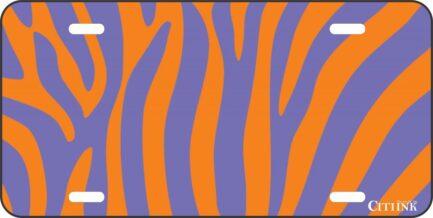 Purple and Orange Zebra Print -0
