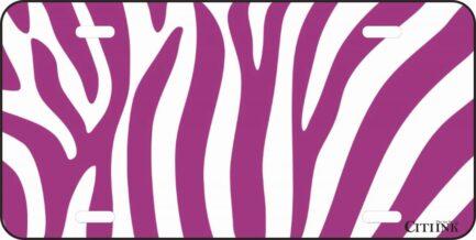 Purple and White Zebra Print -0
