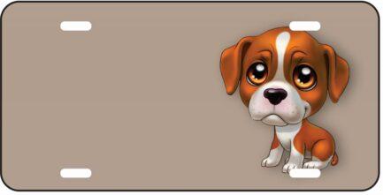 Terrier Cartoon Dog Tag-0