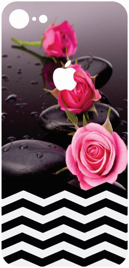 iPhone 8 Skin Flower with Chevron Design-0