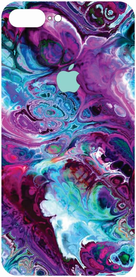 iPhone 8 Plus Blue and Purple Marble Design-0